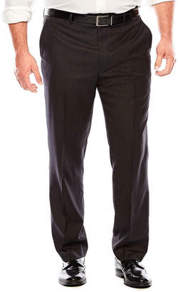 Jf J.Ferrar Black Nailhead Flat-Front Suit Pants - Big & Tall