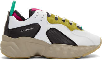 Acne Studios SSENSE Exclusive Yellow and Multicolor Rockaway Sneakers