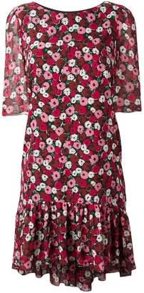 Saint Laurent floral print babydoll dress