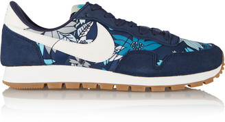 Nike Nike Air Pegasus 83 suede and printed shell sneakers $90 thestylecure.com