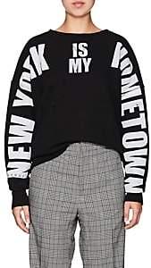 "Faith Connexion Women's ""New York"" Cotton Sweatshirt - Black"