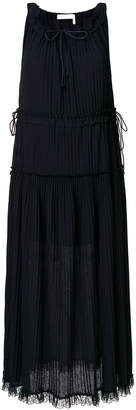 See by Chloe pleated tiered dress