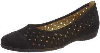 Gabor Womens Ruffle 84.169.17 Nubuck Shoes 6.5 US