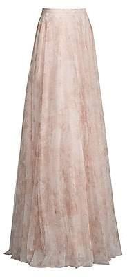 Jenny Yoo Women's Winslow Long Printed Tulle Skirt