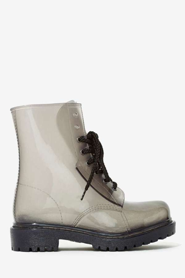Roadie Combat Rain Boot - Gray