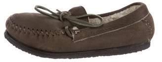 Etoile Isabel Marant Suede Round-Toe Loafers