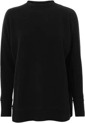 Madeleine Thompson Swan Rainbow Striped Back Sweater