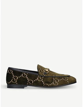 Gucci New Jordaan chain fabric loafers