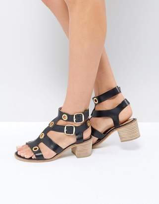 Ravel Stud Leather Kitten heel Sandal