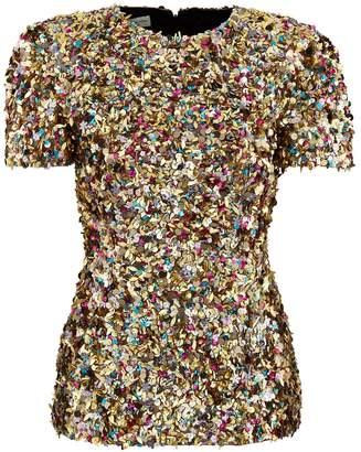 Dries Van Noten Sequinned top