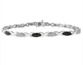 Black Diamond FINE JEWELRY 1/2 CT. T.W. Sterling Silver 7.5 Inch Tennis Bracelet