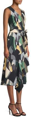 Lafayette 148 New York Printed Belted Dress