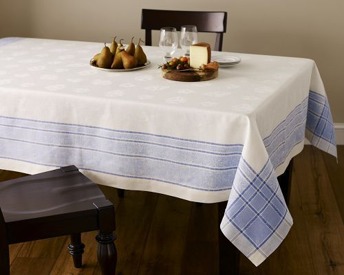 Pear Jacquard Tablecloth, Blue
