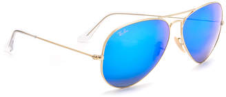 Ray-Ban Oversized Mirrored Aviator Sunglasses $175 thestylecure.com