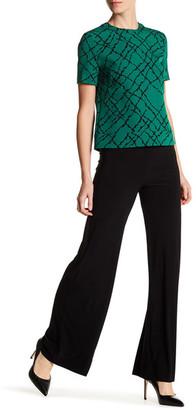 Anne Klein Foldover Wide Leg Stretch Pant $89 thestylecure.com