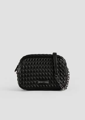 Emporio Armani Mini Cross Body Quilted Bag With Triangular Closure