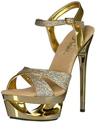 Pleaser USA Women's Ecp619g/g/m Platform Sandal