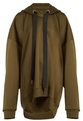 Marques Almeida MARQUES'ALMEIDA Oversized hooded cotton-blend sweatshirt