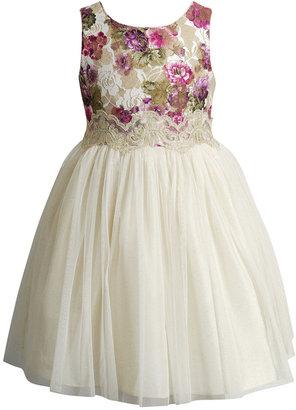 Sweet Heart Rose Floral & Gold Ballerina Dress, Toddler & Little Girls (2T-6X) $74 thestylecure.com