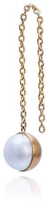 Shihara Half Pearl chain earring