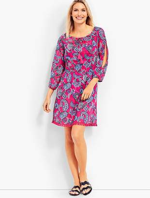 Talbots Cold Shoulder Cover-Up-Pop Paisley