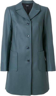 Jil Sander Navy fitted single breasted coat