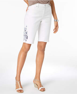 Style&Co. Style & Co Embroidered Bermuda Shorts, Created for Macy's