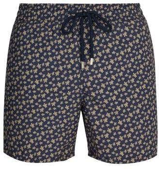 Vilebrequin Turtle Print Swim Shorts - Mens - Blue Multi