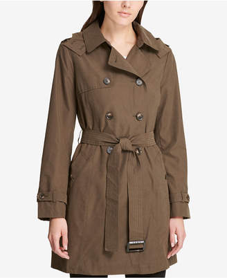 DKNY Double-Breasted Trench Coat