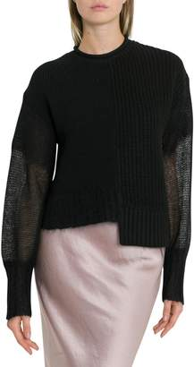 Alexander Wang Ribbed Asymmetrical Knitted Jjumper