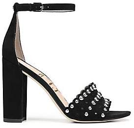 e4ce84248d44 Sam Edelman Women s Yaria Studded Leather Slingback Sandals