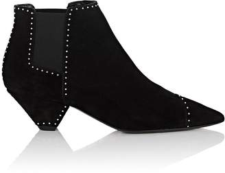 Saint Laurent Women's Blaze Studded Suede Chelsea Boots