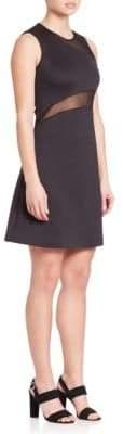 Clover Canyon Neoprene Mesh-Inset Dress