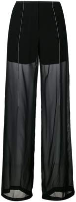 DKNY sheer relaxed trousers