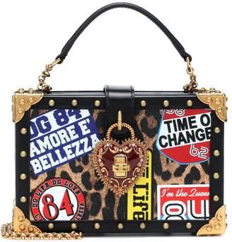 Dolce & Gabbana My Heart printed leather shoulder bag