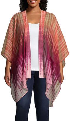 Arizona 3/4 Sleeve Floral Kimono-Juniors Plus