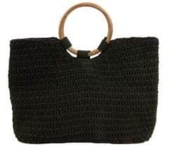 Sam Edelman Susannah Macrame Cotton Top Handle Bag