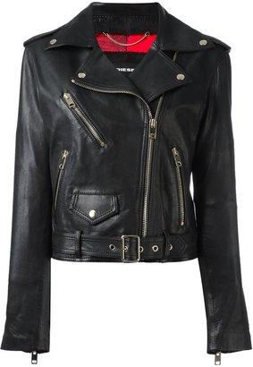 Diesel belted biker jacket $814.70 thestylecure.com