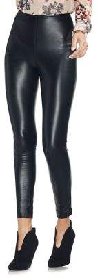 Vince Camuto Faux-Leather High-Waisted Leggings