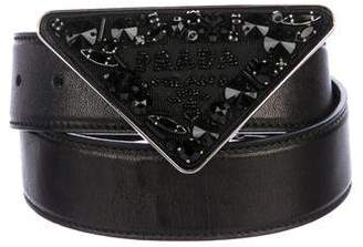 c4136f75e95287 Pre-Owned at TheRealReal · Prada Leather Embellished Belt