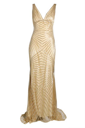 Naeem Khan Sequence V Neck Gown