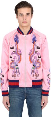 Embroidered Silk Satin Bomber Jacket $4,950 thestylecure.com