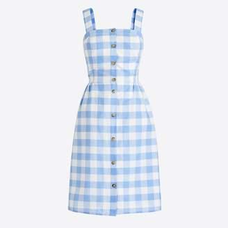 J.Crew Button-front dress in linen-cotton