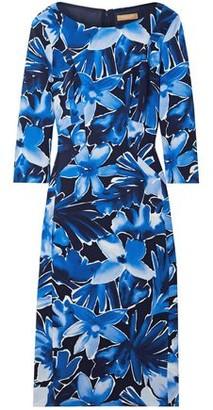 Michael Kors Floral-Print Stretch-Cady Midi Dress