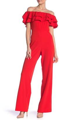 Marina Tiered Ruffle Off-The-Shoulder Jumpsuit