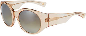 Salt Fleckman Round Transparent Acetate Sunglasses