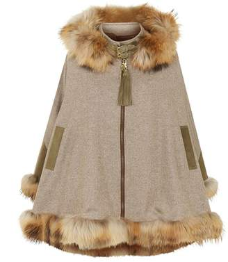 Holland Cooper Cashmere and Wool Cape