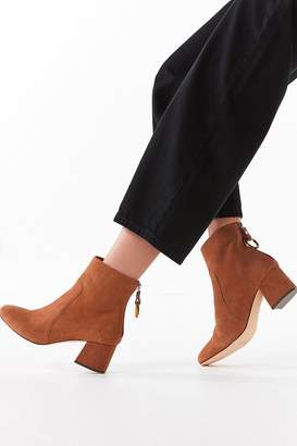 Urban Outfitters Harlow Suede O-Ring Brown Ankle Boot