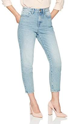 Denim Bloom Women's High Waisted Tapered Fit Non Stretch Jean