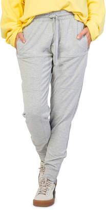 Peace Love World Keith Moto-Style Jogger Sweatpants, Gray